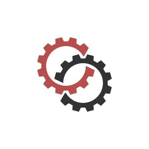 Infinite Gears Logo Mall Illustration Design. Vektor EPS 10.