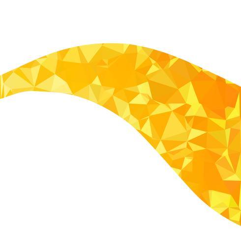 Sfondo giallo mosaico poligonale, modelli di design creativo