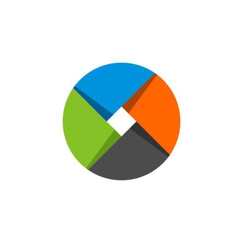 Kreis geflochtenes Logo Template Illustration Design. Vektor EPS 10.