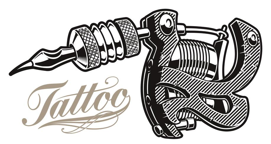 Vector illustration of a tattoo machine