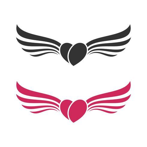 Love Wing Logo Template Illustration Design. Vector EPS 10.