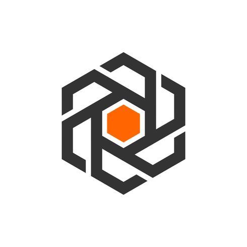 Hexagon Shape Logo Mall Illustration Design. Vektor EPS 10.