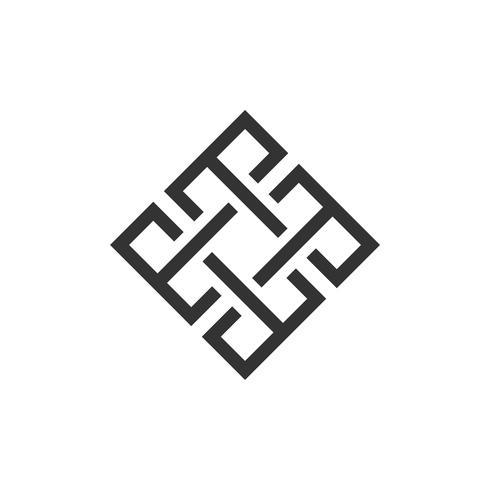Labyrinth Diamond Logo Template Illustration Design. Vector EPS 10.