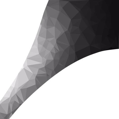 Schwarzer polygonaler Mosaik-Hintergrund, kreative Design-Schablonen