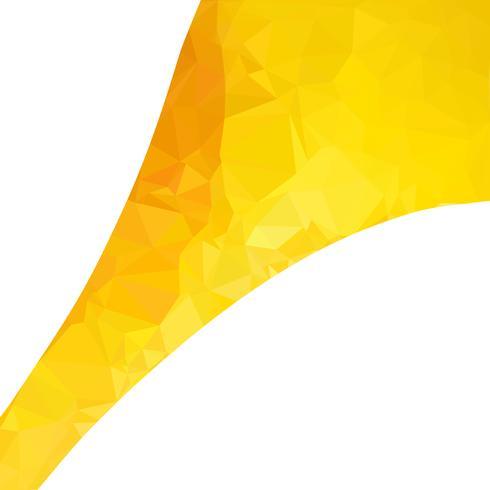 Gele veelhoekige mozaïek achtergrond, creatief ontwerpsjablonen