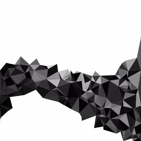 Zwarte veelhoekige mozaïek achtergrond, creatief ontwerpsjablonen