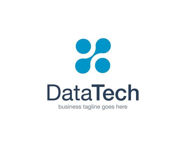 Tecnología de datos Logo icono Vector