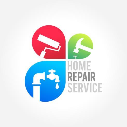 Reparación de la casa de negocios símbolo de diseño vector