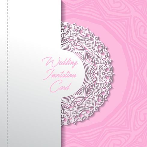 disegno di carta taglio carta invito di nozze