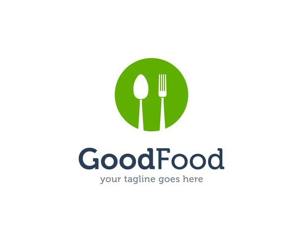 Good Food Spoon Fork Knife Logo Icon Vector