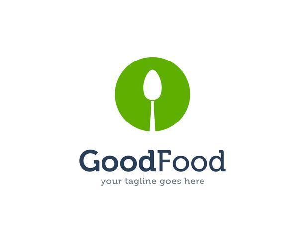 Good Food Spoon Fork Knife Logo Icon Vector
