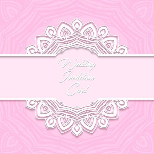 bruiloft uitnodigingskaart papier gesneden ontwerp