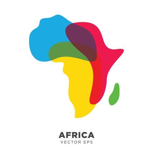 Vettore creativo della mappa dell'Africa, vettore ENV 10