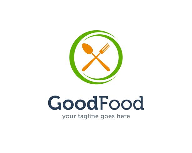 Gutes Lebensmittel-Löffel-Gabel-Messer Logo Icon Vector