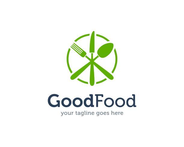 Good Food lepel Vork mes Logo pictogram Vector