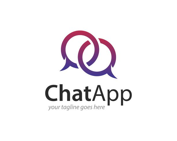 Chat App Logo Icon Vector