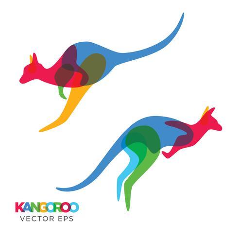 Diseño animal creativo del canguro, vector eps 10