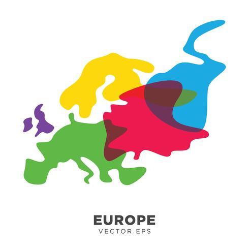 Vecteur de carte europe créative, vecteur eps 10