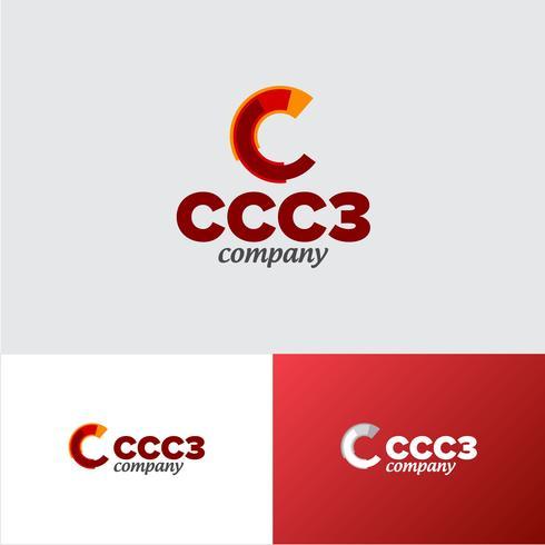 Corporate CCC 3 Company Logo Design Template