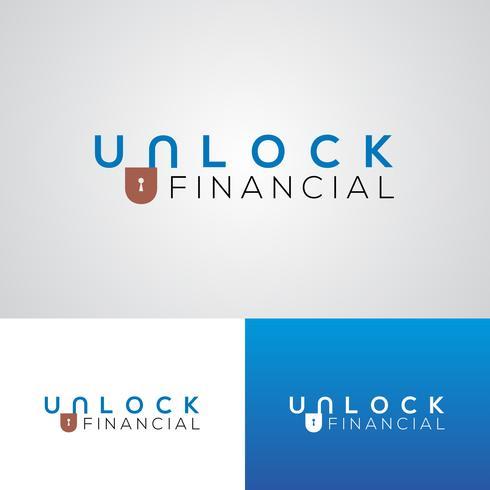 Corporate ontgrendelen financiële Logo ontwerpsjabloon