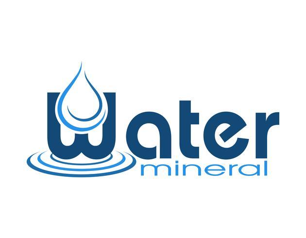 Ilustración de vector de agua mineral logo