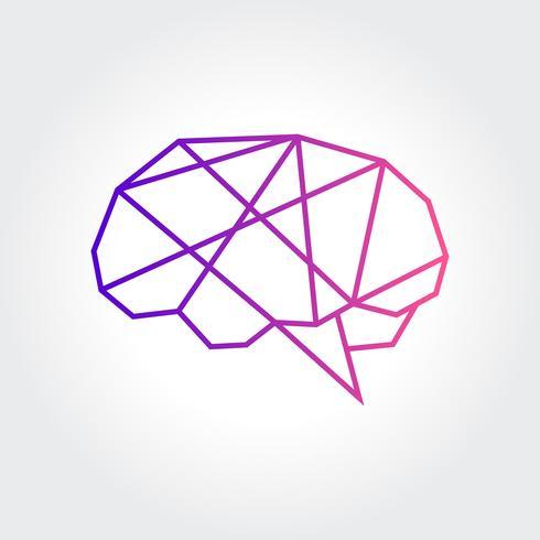 Conception abstraite de symbole de cerveau vecteur