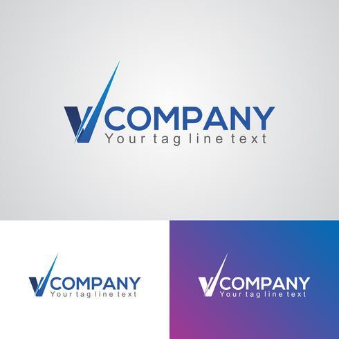 Creative V Logo Design Template