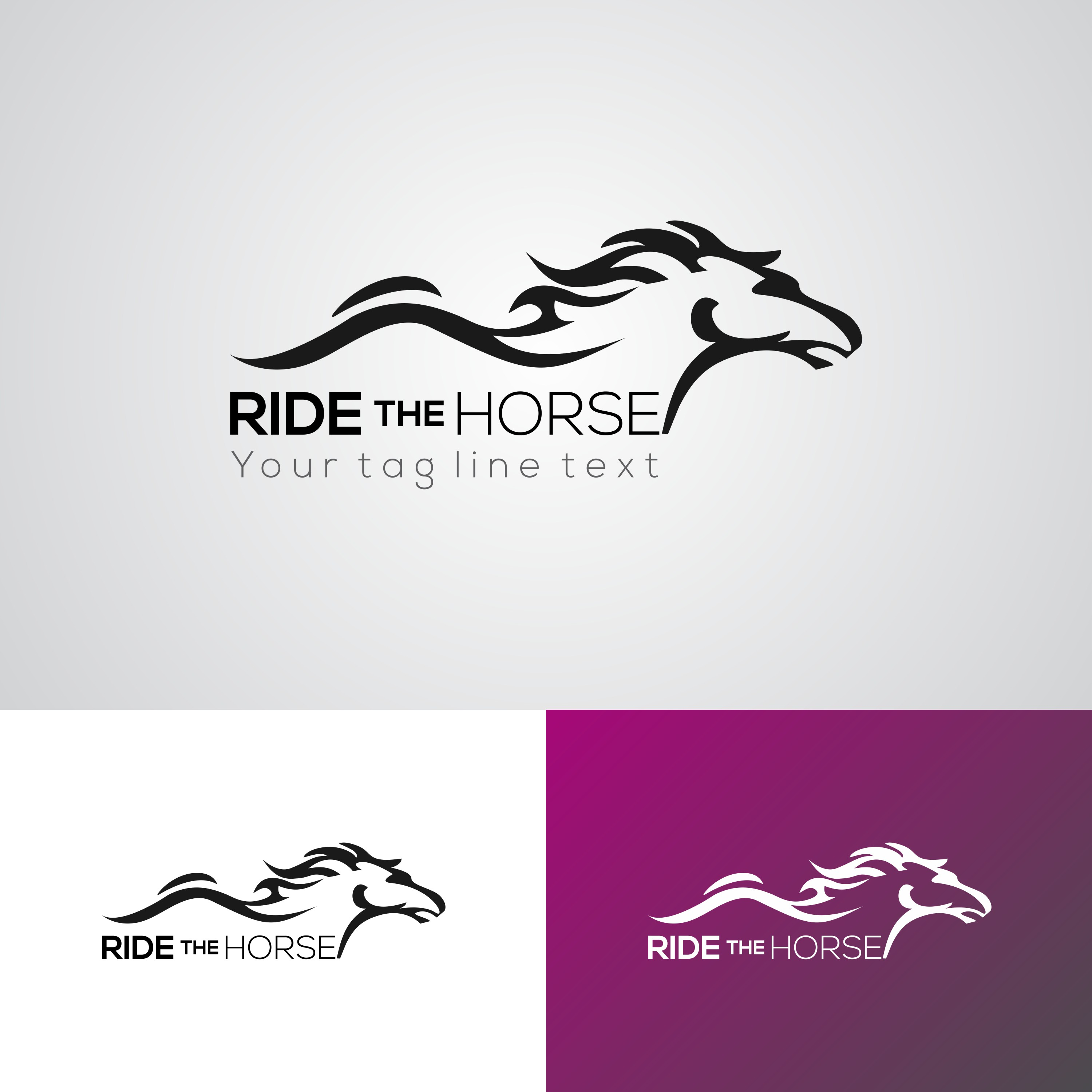 Creative Ride The Horse Logo Design Template Download Free Vectors Clipart Graphics Vector Art