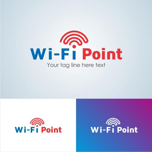 Corporate Wifi-punt Logo ontwerpsjabloon