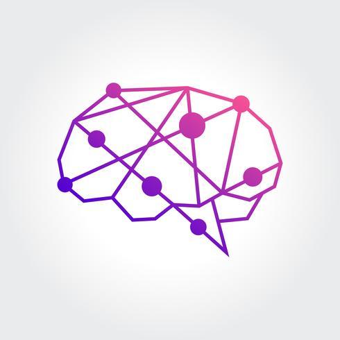 Diseño abstracto del símbolo del cerebro
