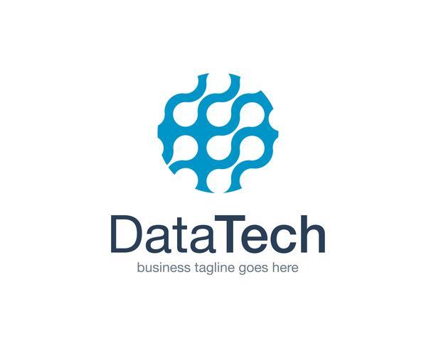Data Technology Logo Icon Vector