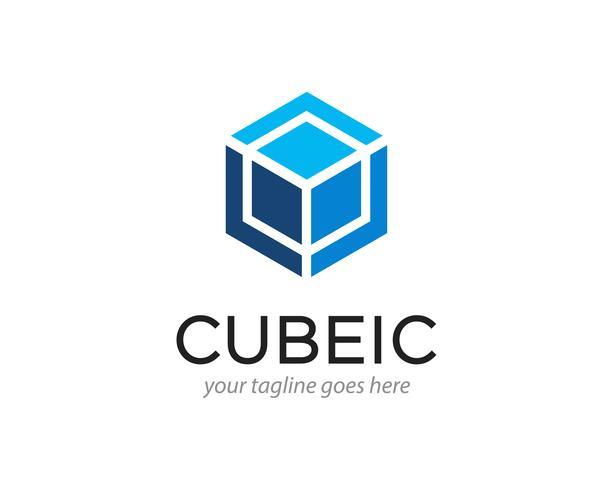 illustration vectorielle de cube abstrait hexagone logo design vecteur