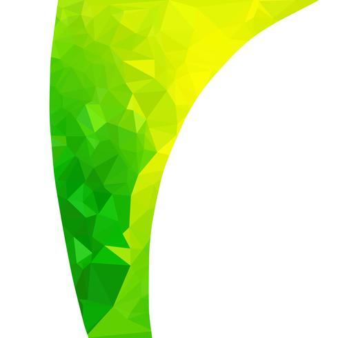 Grön polygonal mosaikbakgrund, kreativa designmallar