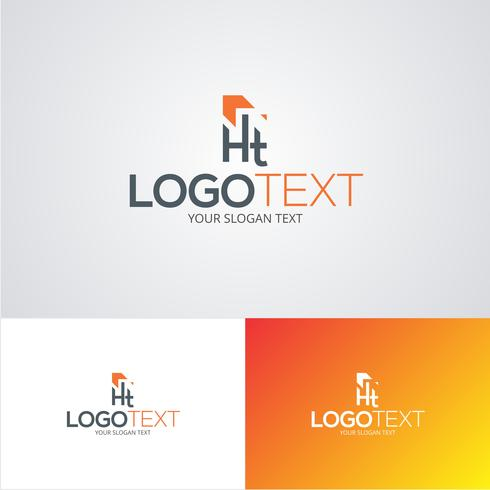 Corporate HT Logo Design Template