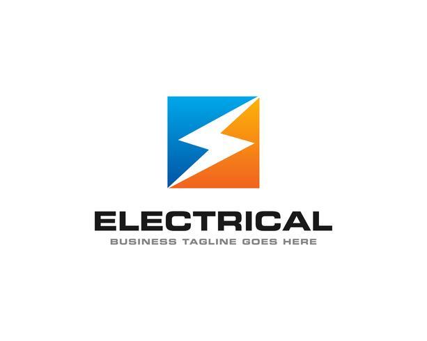 Eléctrico Trueno Logo Icon Vector