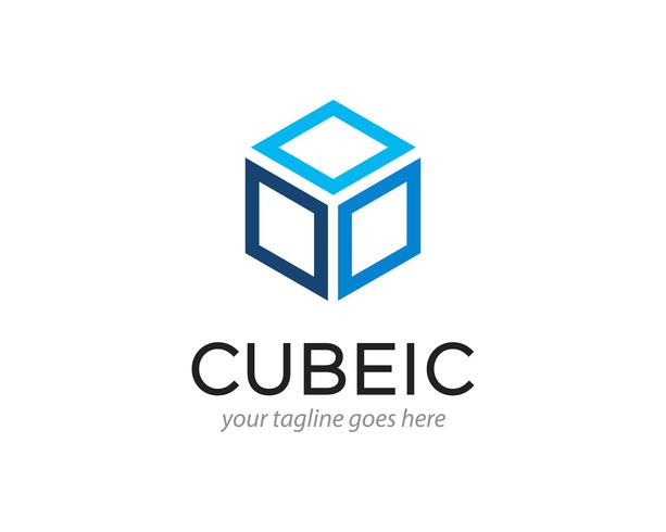 illustration vectorielle de cube abstrait hexagone logo design vecteur