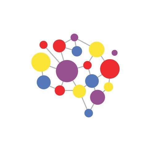 Abstrakt hjärnsymbol design