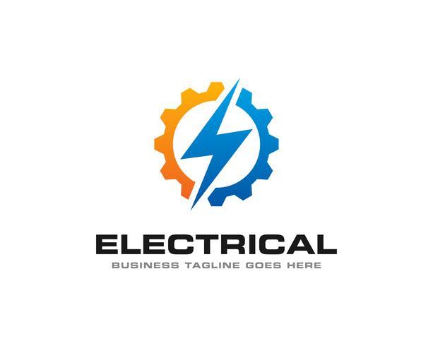 Vetor de ícone de logotipo trovão elétrico