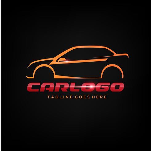 Diseño elegante del logotipo del coche vector