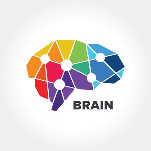 Diseño abstracto del símbolo del cerebro vector