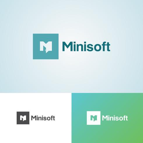 Modelo de Design de logotipo corporativo Minisoft