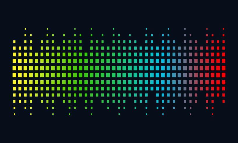Concepto de logotipo de la música, onda de sonido, tecnología de audio, forma abstracta