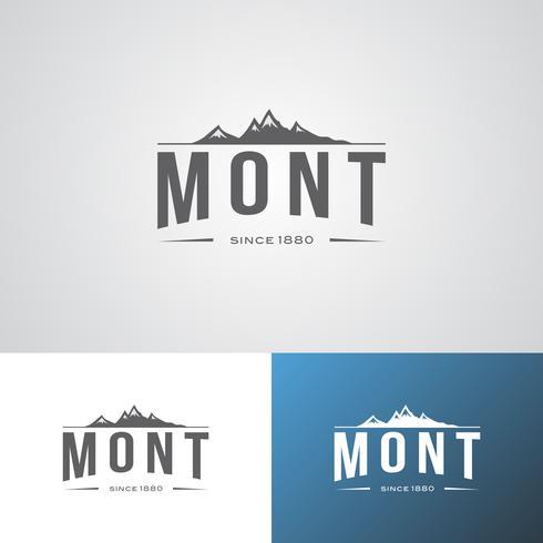 Modèle de conception de logo Mont