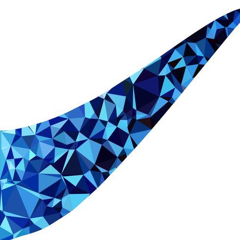 Blå polygonalmosaik bakgrund, kreativa designmallar