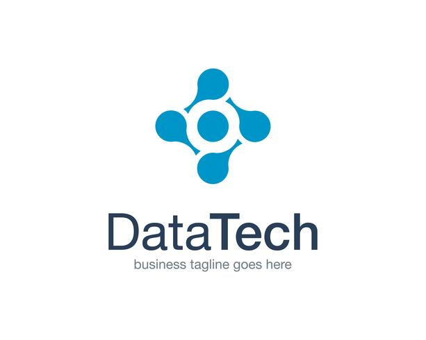 Datatechnologie Logo Icon Vector