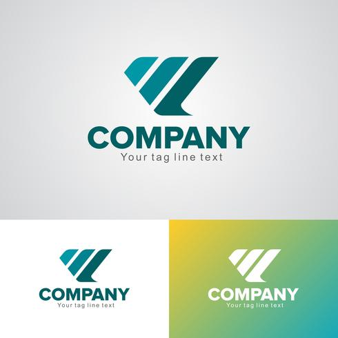 Plantilla de diseño de logotipo corporativo vector