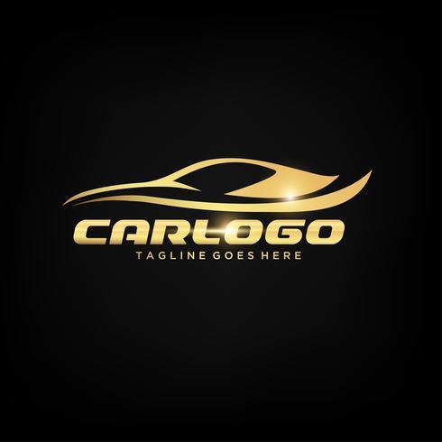 Design de logotipo de carro de ouro