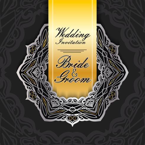 bröllop inbjudningskort pappersskuren design