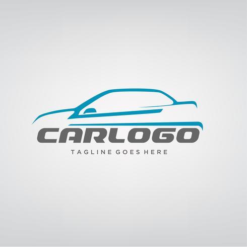Design elegante logotipo do carro