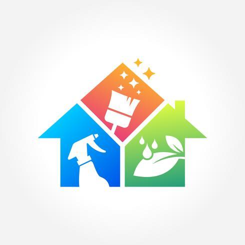 Huis Schoonmaak Zakelijke Symbool Ontwerp